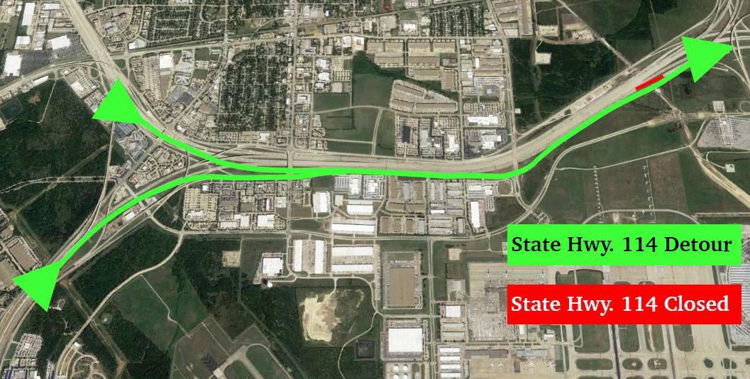 State Hwy 114 Detour
