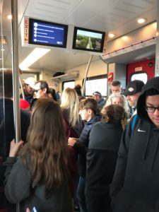 Passengers on TEXRail Train