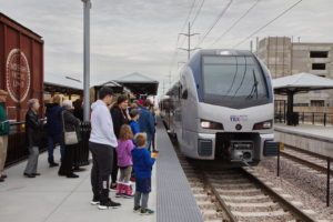 TEXRail Passengers at Grapevine Main Street Station