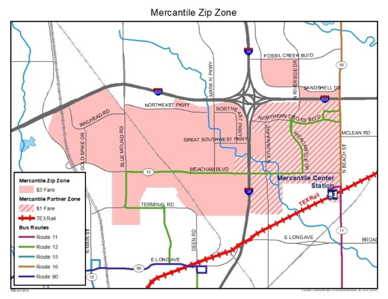 Mercantile ZipZone Map