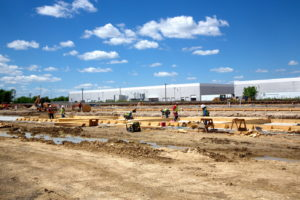 Construction of the new Equipment Maintenance Facility