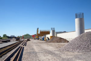TEXRail train track construction at Peach Yard Cold Springs Road Fort Worth, Texas