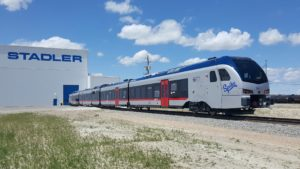 Image of last TEXRail Train titled SPIKE