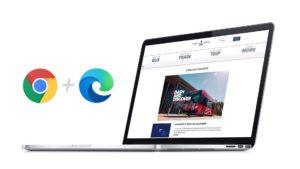 New Trinity Metro website screenshot on laptop