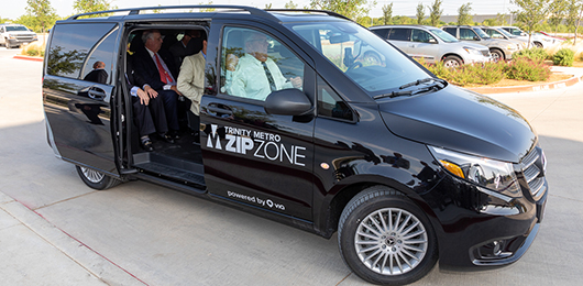 ZipZone Via Vans with passengers