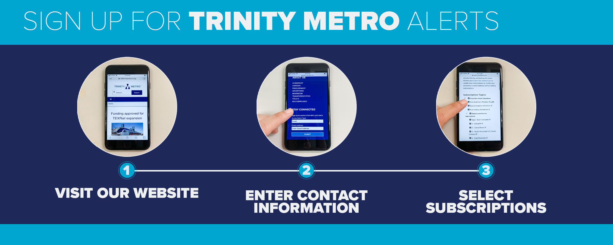 Signing up for alerts Trinity Metro blog