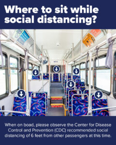 Where to sit in the bus while social distancing