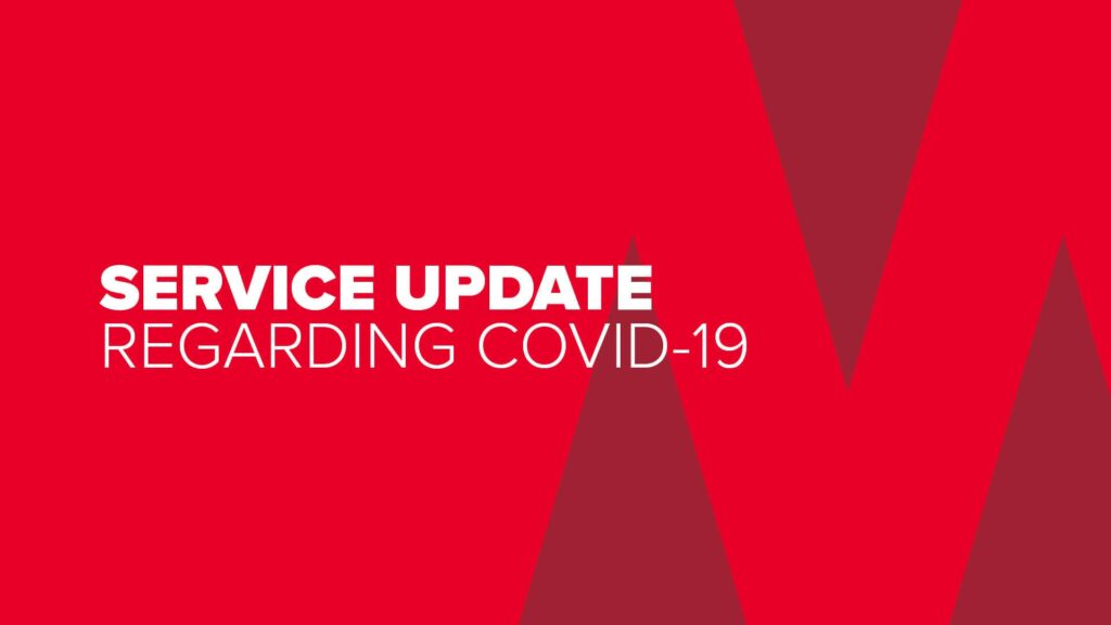 Service Update Regarding COVID 19