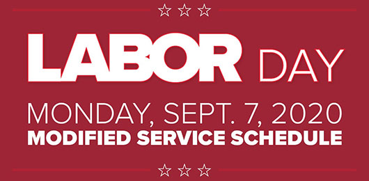 Trinity Metro Labor Day Schedule