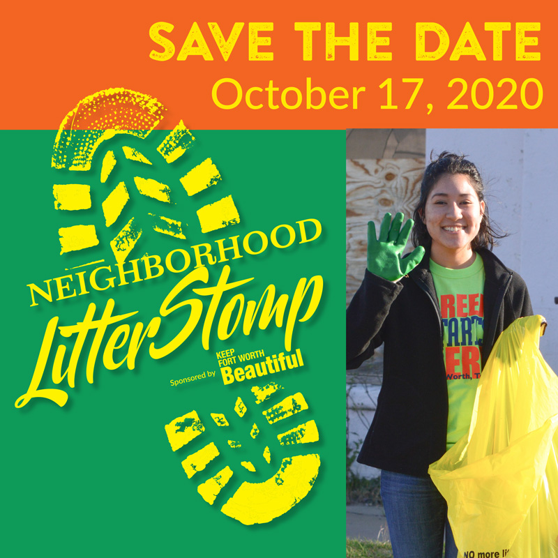 Neighborhood Litter Stomp. Trinity Metro blog.