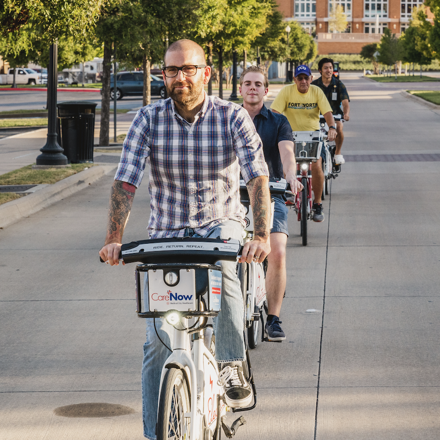 Fort Worth Bike Sharing and GoPass app integration. Trinity Metro blog.