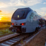 TEXRail Train Sunset Mobile Background
