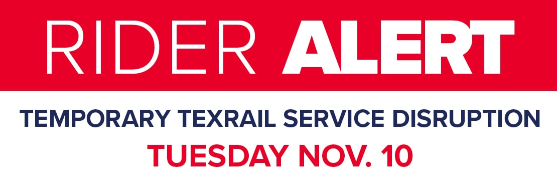 TEXRail service disruption Nov. 10