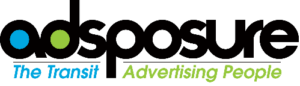 Adsposure logo. Trinity Metro advertising
