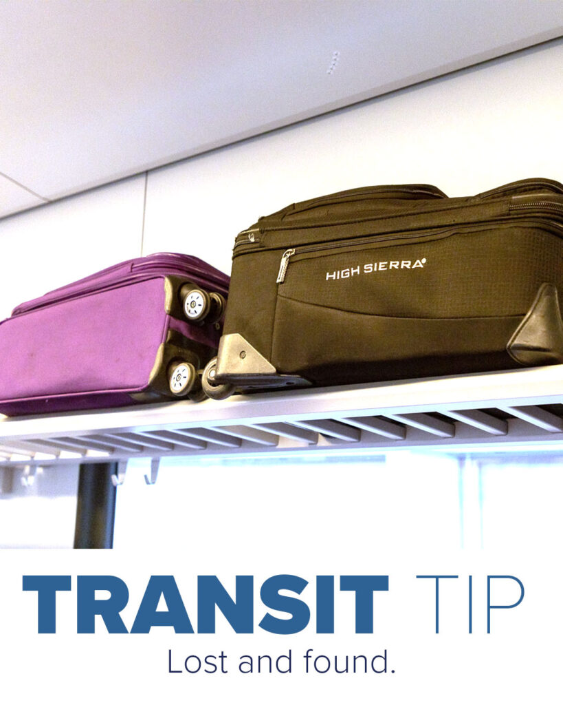 Trinity Metro Blog. Transit Tip Lost and Found