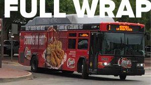 Trinity Metro Bus Advertising Full Wrap