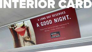 Trinity Metro Bus Advertising Interior Card