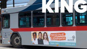 Trinity Metro Bus Advertising King