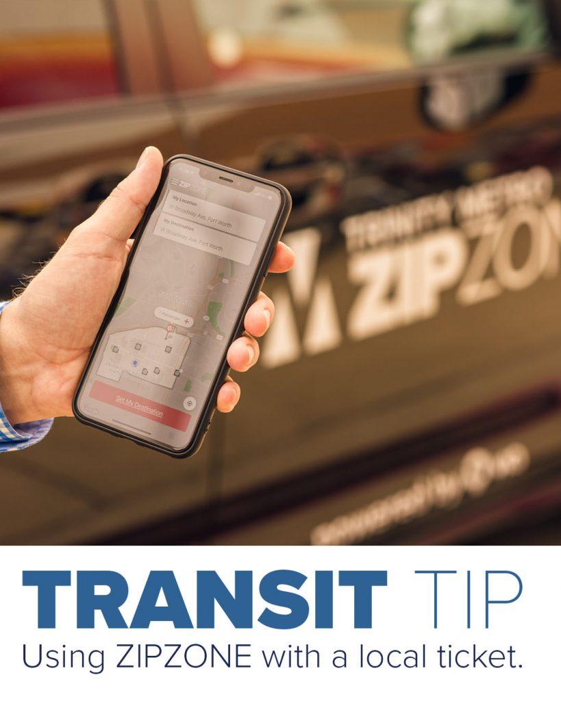 Trinity Metro Blog. Using ZIPZONE with local tickets.
