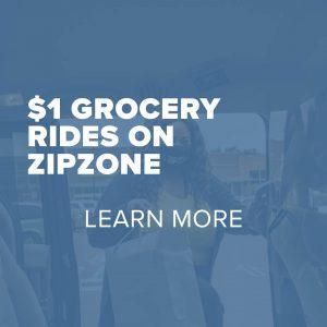 Trinity Metro Metronomics $1 Grocery Rides on ZIPZONE