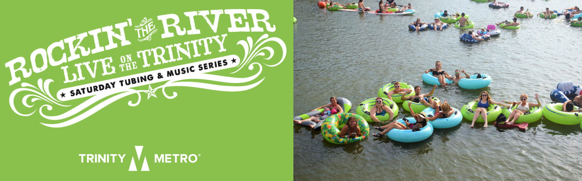 people tubing on the trinity river