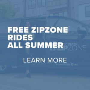 Trinity Metro May 2021 Metronomics Free ZIPZONE Rides all summer