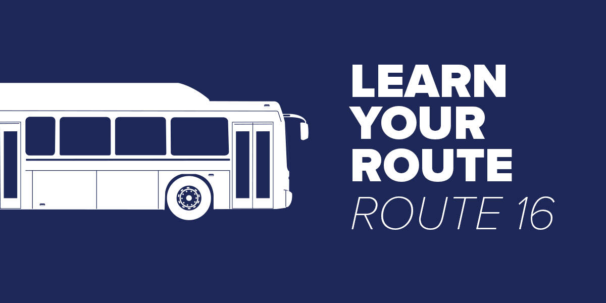 Trinity Metro Bus Route 16 Learn Your Route